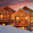 Terry Peak Chalets at Night