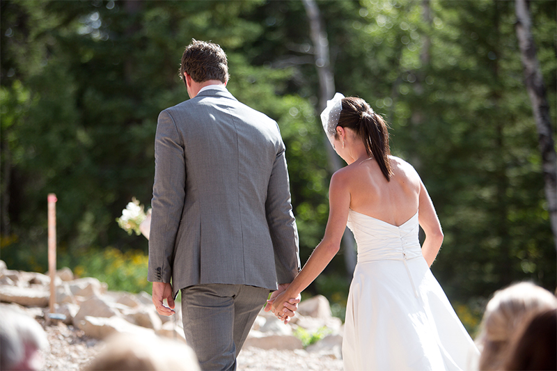 Summer wedding at Terry Peak Chalets