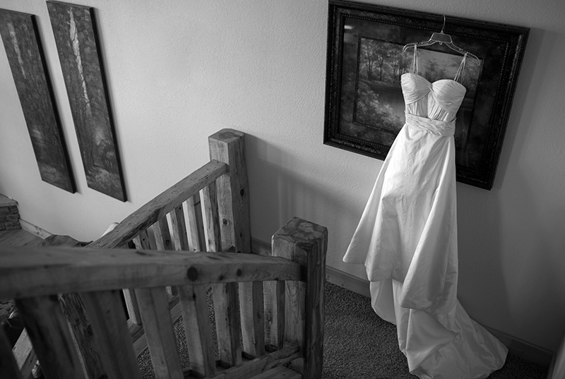 Wedding dress in Terry Peak Chalet